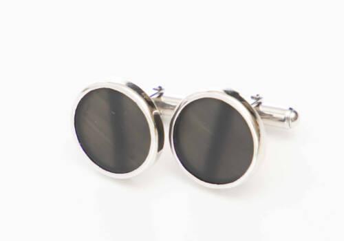 manchetknoop met onyx zilver witgoud